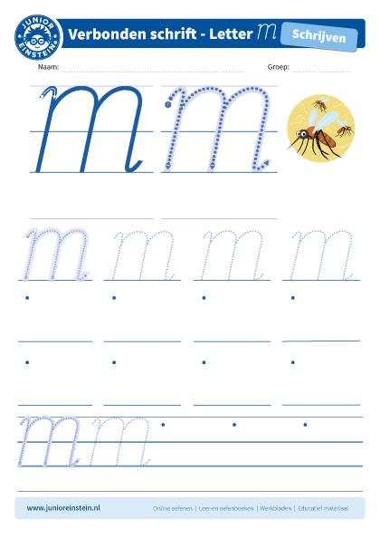 Uitzonderlijk Top Letters Leren Schrijven Groep 3 Werkbladen @AXK02 - AgnesWaMu &QO05